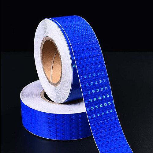 5cmx10m/Roll Safety Mark Reflective Sticker Car Styling Self Adhesive Warning Tape