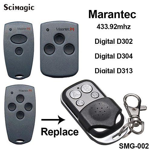 Marantec Digital D302 D304 Garage Door Gate Remote control Replacement Duplicator Remote Marantec garage door opener 433.92mhz