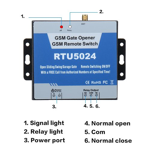 RTU5024 GSM Gate Opener Relay Remote Door Accessories Switches 850/900/1800/1900MHz for Household Bedroom Supplies