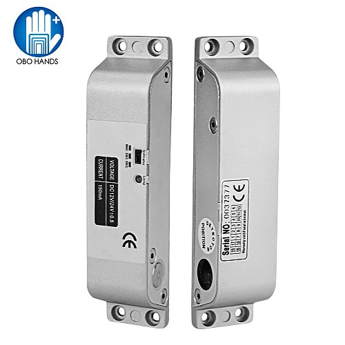 DC12V Fail Safe NC Electric Drop Bolt Lock Access Control Electronic Mortise Door Locks with Time Delay for Gate Entry System