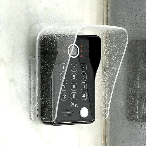 Dragonsview Outdoor Waterproof Cover Rain Cover for Doorbell Apartment Video Intercom Snow Cover Sun Shade  Acrylic Transparency