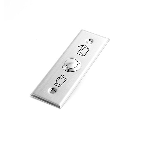 push Exit button for door Access control,Stainless Steel material ,Dimensions: 91Lx28Wx20H(mm) ,min:1pcs