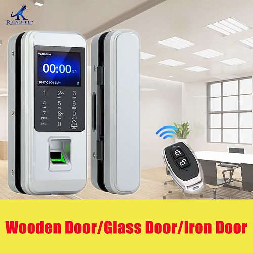 Fingerprint Electronic Door Lock Glass DoorLlock Universal Smart Door Lock Fingerprint Touch Lock Anti-theft Lock