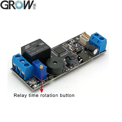 GROW K202+R502-A DC12V Low Power Consumption Fingerprint Access Control Board+R502-A Small Ring LED  Fingerprint Module