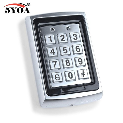 5YOA Waterproof Metal Rfid Access Control Keypad With 1000 Users+ 10 Key Fobs For RFID Door Access Control System