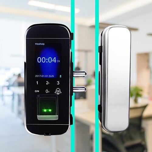 Glass Door Lock Manufacturers Fingerprint Lock Supplier Biometric Glass Door Lock Wholesale Door Lock with Fingerprint Reader