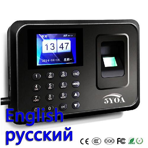5YOA Biometric Attendance System USB Fingerprint Reader Time Clock Employee Control Machine Electronic Device Russian English