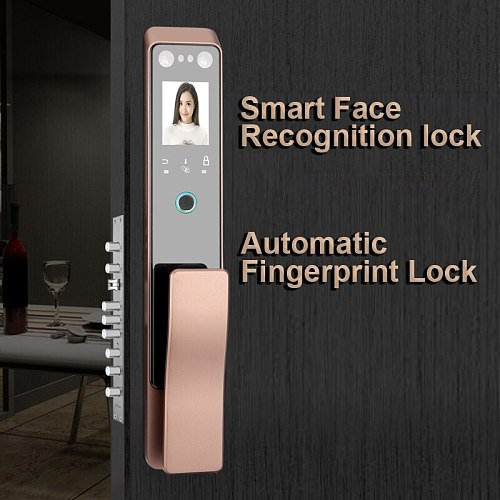 Realhelp Intelligent Door Lock for Apartment and Home use 3D Infrared Face Recognition Smart Smart Palm vein Face Lock