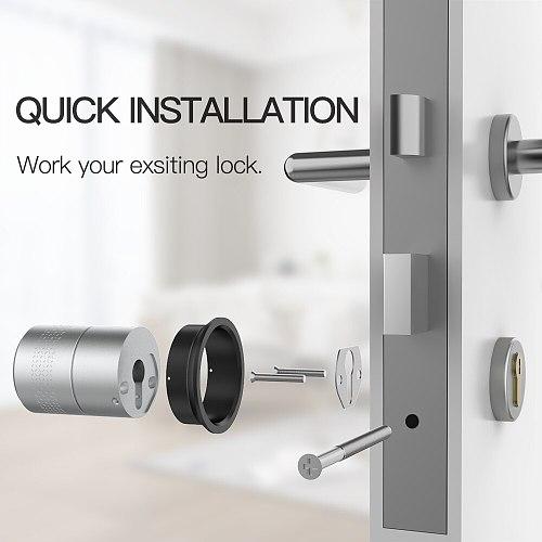 Airbnk M531 Door Lock Stronger Motor TUYA Zigbee Smart Lock Fingerprint Smart Home Remote Control Lock Use Original Cylinder