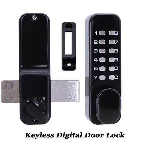 Waterproof Exterior Lock Gate opener Digital Door lock code/password Mechanical Deabolt Keyless Outdoor Garden/Home Wooden Door