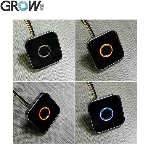 GROW R502-AW Zinc Alloy Round Ring LED Control DC3.3V Capacitive Fingerprint Module Sensor Scanner