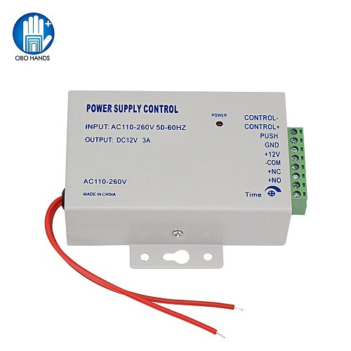 Access Control Power Supply DC12V/3A Output 110-260VAC Input Voltage with Time Delay for Electronic Lock Video Intercom K80