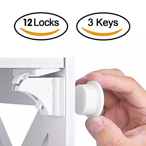 Kids Security Magnetic Child Lock Baby Safety Cabinet Drawer Door Lock Children Protection Invisible Lock No Drilling No Screws
