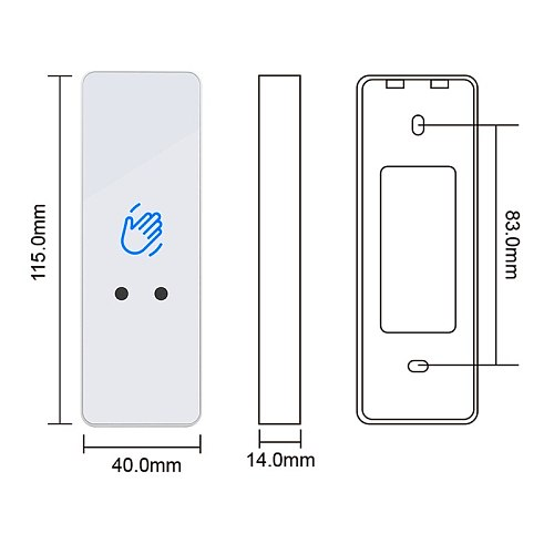 New 12V/24V Touchless Infrared Sensor Switch No Touch Contactless Switches Door Release Access Control Exit Button With Led