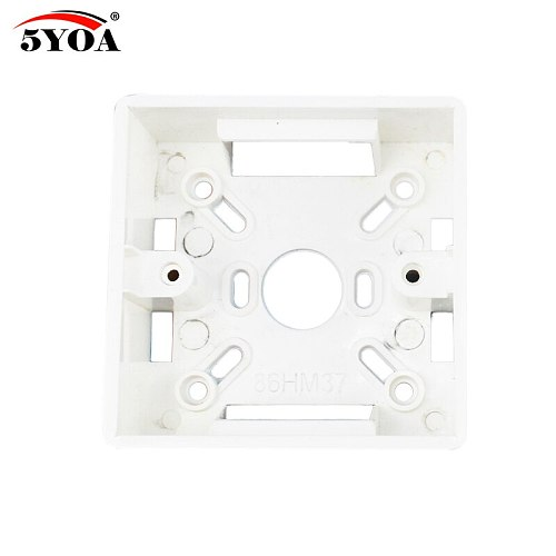 86 Box Mount Bottom Wall Switch Socket Switch-Base PVC Surface Outlet Junction Electrical Accessories Mounting Exit Button