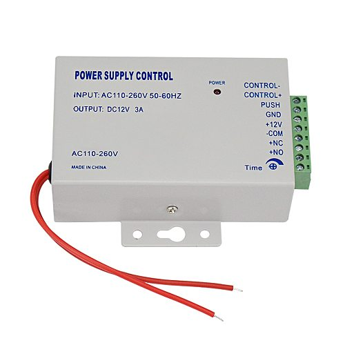 Access Control Power Supply K80 Power Switch DC 12V 3A AC 110~260V for All Types Access Control System Door Lock with Time Delay