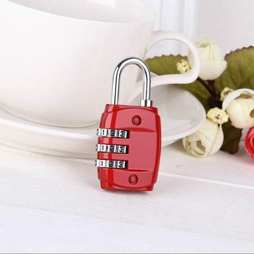Padlock 3 Dial Digit Password Combination Password Lock Suitcase Luggage Metal Code Lock Mini Coded Keyed Anti-Theft Locks