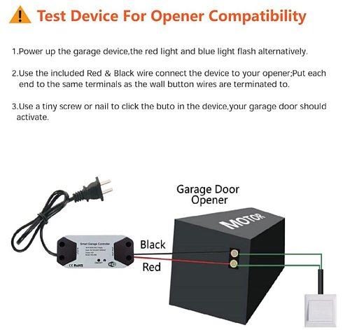 Smart Wifi Garage Door Opener /Closed Compatible With Alexa Googel Home Smart Life