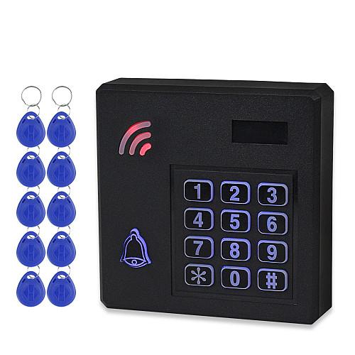 IP68 Waterproof RFID Access Controller WG26 125KHz Access Control Keypad Outdoor Rainproof 10pcs Key Cards for Door Lock System