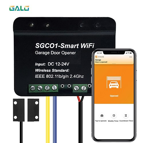 Newest Release Garage Door Opener Receiver WIFI Smart Receiver Use For General Brand Swing Sliding Gate Opener TX Car Universal