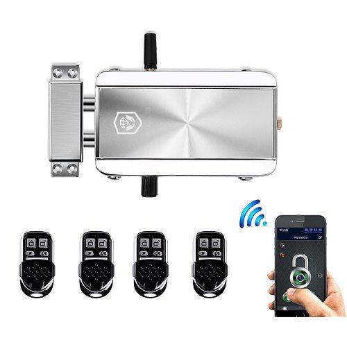Wireless 433MHz remote control Door Lock Bluetooth APP Remote Control Electronic motor Lock anti-theft