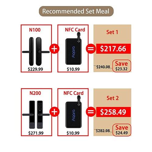 N100 & N200 Smart Door Lock Fingerprint Bluetooth Password NFC Unlock Works with Mijia HomeKit Smart Linkage with Doorbell