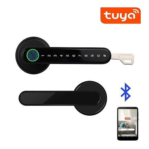Tuya Smartlife APP Smart Bluetooth Remote Control Fingerprint Lock biometrics password code Door Lock