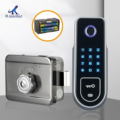 Wireless and Door Remote Control Fingerprint Recognition Device Electric Lock Access Control Card AA Battery lock