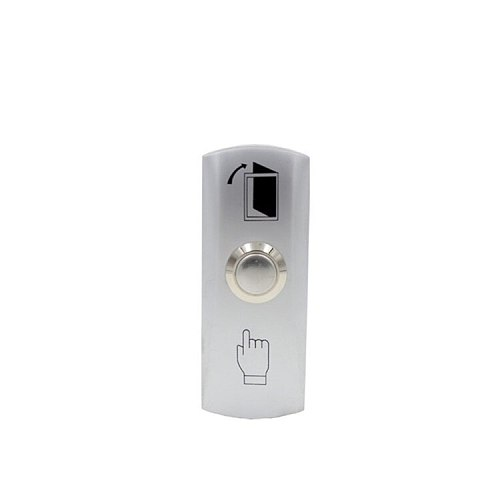Zinc Alloy Shell Door lock Push To Exit Button NO/COM Output with Back Box for Access Control