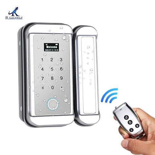 Outdoor Fingerprint Lock Waterproof Fingerprint Electronic Door Locks With Biometric Password Code Office Door Lock
