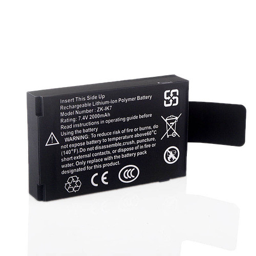 IK7 Rechargeable Lithium-lon Polymer Battery 7.4v 2000mah Built-in Battery Rechargeable Battery for ZK Iface Machine
