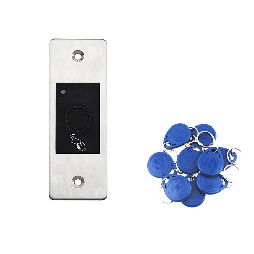 Embedded Fingerprint Door Access Control System IP66 Waterproof Outdoor RFID Access Control for Electric Magnetic Strike Lock