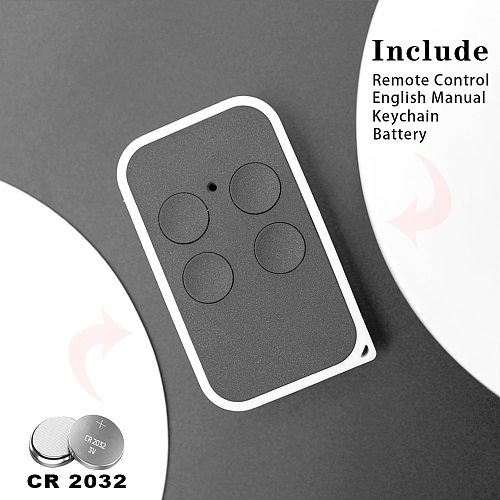 Remote Copy 280MHz to 868MHz 4-Channel Command Handzender Garage Door Opener Obstacle Control Panel Fixed Code and Rolling Code