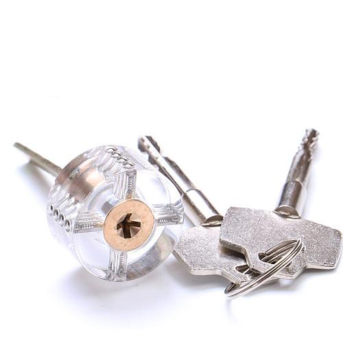 Practice Transparent Lock Pick Visible Training Skill Cutaway Inside Copper Padlock Tool For Locksmith Supplier Hardware
