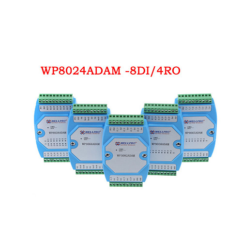 WP8024ADAM 8DI/4RY Digital Input Relay Modbus RTU RS485