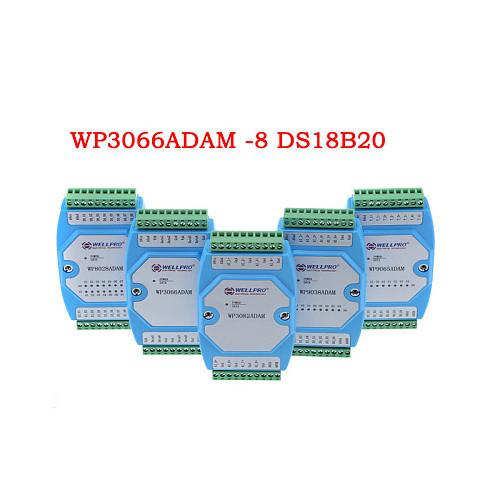 8 channel input temperature sensor DS18B20 module RS485 RTU MODBUS WP3066ADAM