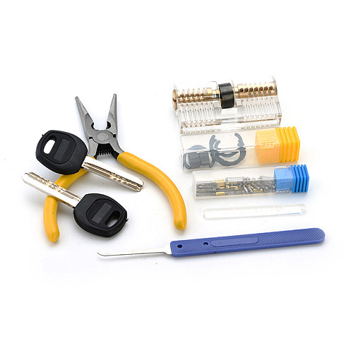 Removable Transparent DIY Lock Visible Pick Cutaway Practice View Padlock Training Skill For Locksmith Hardware