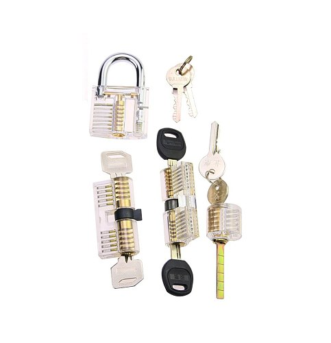 Free Shipping 4pcs Locksmith Practice Lock Cylindet Set for Beginner Training