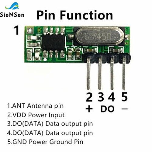 SieNSen 10Pcs/lot ASK 315M/433M High Sensitivity Superheterodyne Wireless Receiver Replaces SYN480,RXB51/61 UHF Receiver RX500A