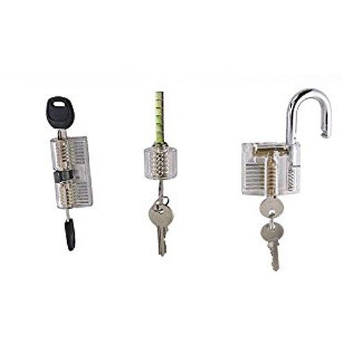 Free Shipping 3pcs Locksmith Transparent Practice Lock with 2 Keys,Locksmith Training