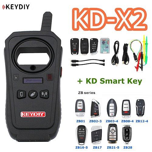 KEYDIY Original KD-X2 Remote Maker Unlocker Key Generator 96Bit 48 Transponder Chip Copier with KD Smart Key KD Data Collector