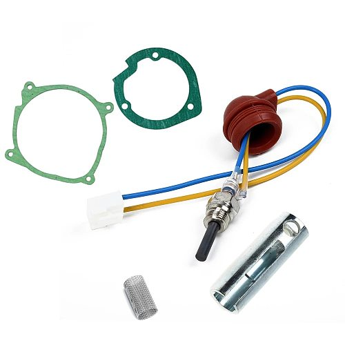 1set 5pcs Car Air Diesel Gaskets Strainers+12V/24V Ceramic Glow Plug For 2-5kw Air Diesel Heater Similar Webasto Eberspacher