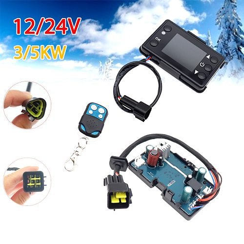 12V 24V Diesels Air Heater LCD Monitor Switch + Remote Control + Control Board Motherboard For Car Parking Heater Controller