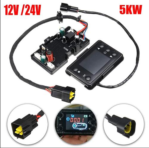12/24V 5KW 3KW 8KW LCD Car Switch Heater Controller Board Car Track Heater Parts Motherboard for Diesel Air Heater Controller