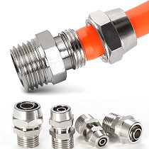OD 4/6/8/10/12mm Hose Tube M5/1/8''/ 1/4'' 3/8'' 1/2'' Male Thread Pneumatic Fast twist Fittings Quick Joint Coupler Connector