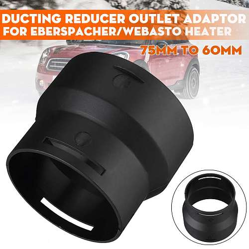 75mm-60mm Car Parking Heater Ducting Reducer Connector Air Diesel Heater Duct Pipe Reducer Adapter Converter For Eberspacher