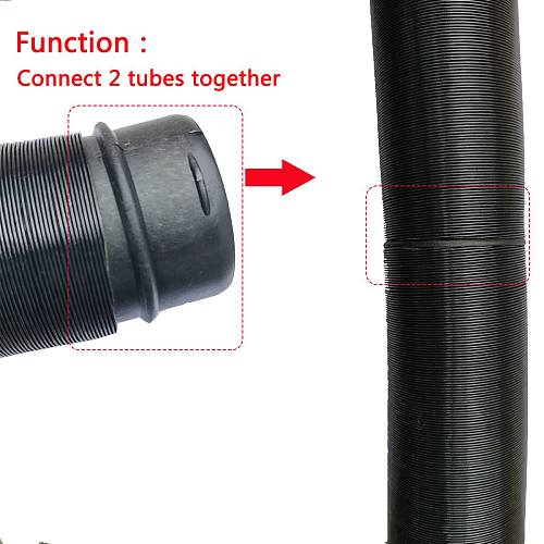60mm/75mm Car Heater Duct Joiner Pipe Air Diesel Parking Heater Hose Line Connector For Webasto Eberspacher