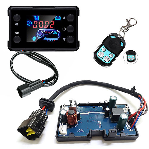 12V 24V Diesels Air Heater LCD Monitor Switch+Control Board Motherboard+Remote Control For Car Parking Heater Controller
