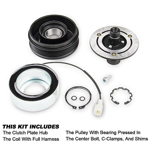 Carbole for MAZDA 3 5 A/C AC Compressor Clutch KIT - Front Plate Bearing and Coil 2004-2009 3 2.0L 2.3L 2006-2010 5 2.3L