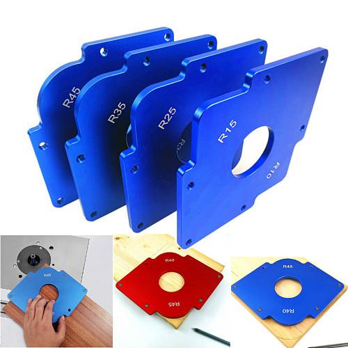 Aluminium Alloy Shape Contour R Gauge Angled Ruler Trimming Machine R Angle Arc Template Fillet Gauge Woodworking DIY Tools